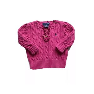 Polo Ralph Lauren Cable Knit Pink Sweater